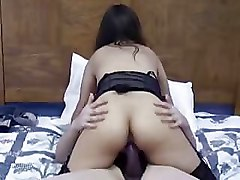 Aunt, Korean whore doesn't want to let a black cock fuck her for any amount of money