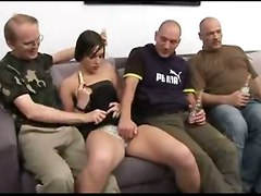 Whore, Teen, Punished anal gangbang