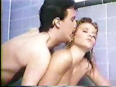 Blonde, Classic, Ass, Shower, Stepfather fucks daughter in shower