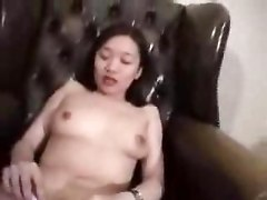 Asian, Horny guy watches 2 maids fuck and suck