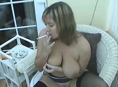 Smoking, Milf, Cherie noir face slapping smoking