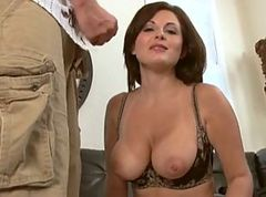 Milf, Japanese milf catches her stepson jerking off