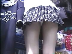 Upskirt, Thong, Short dress skirt thong flash upskirt wind public oops