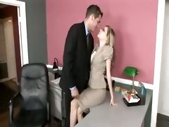 Office, Office lady in skirt licked and fucked
