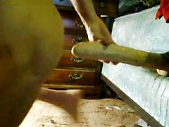 Dildo, Insertion, Playing around with mother in law in kitchen