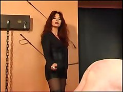 Russian, Beautiful mistress fucks her slave very hard-dominant-man is slave