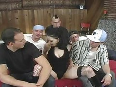 Gangbang, Goth, Facerideing and facesitting