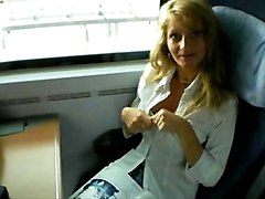 Milf, Train, Cock touch on train to nyc