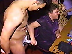 Cfnm, Party, Cfnm tied creampie
