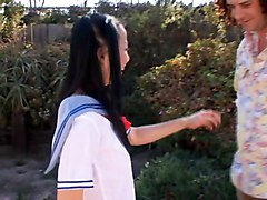 Japanese school girl molested