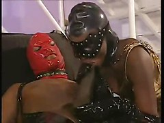 Black, Latex, Facial, Latex bisex