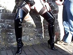 Boots, Whore, Lady sonia cuckoldrix in thigh boots