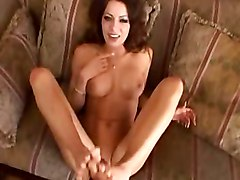 Footjob, Swallow, Toe tied footjob
