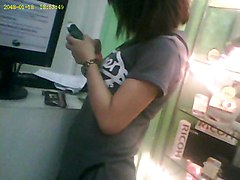 Upskirt, Teen, Voyeur, Boso boarding house pinay college student