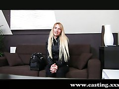 Blonde, Casting, Shy, Exploited college girl toni