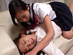 Lesbian, Slave, Japanese teacher is a sex slave