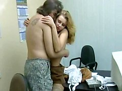Blonde, Student, Creampie group orgy at students