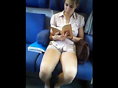 Teen, Train, Wife fucked in front of her husband on train