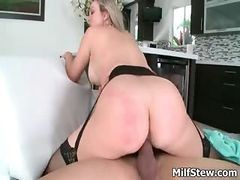 Blonde, Milf, Big Tits, Bang bus 18 year old boy virgin fucks blonde pornstar