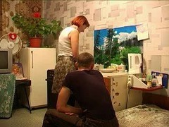 Mom, Russian, Russian mom and son making love