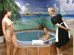 Pool, Lesbian, German, Dildo, Spy cam at pool changing room gay boys