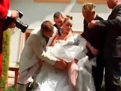 Gangbang, Bride, Wedding, Mistreatred bride