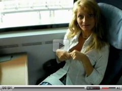 Milf, Train, Fingering lesbians in trains and bus