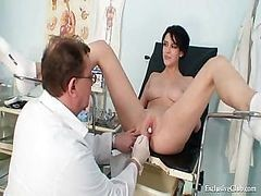 Bus, Doctor, Gyno, Teacher, Lesbian gyno exam